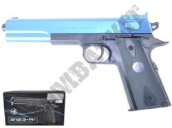 2123-A1 BB Gun 1911 Long Spring Airsoft Pistol 2 Tone Colours